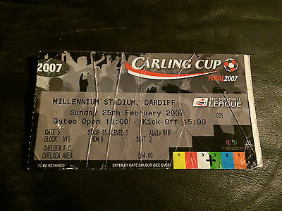 MATCH TICKET - ARSENAL v CHELSEA 2006-07 CARLING LEAGUE CUP FINAL AT MILLENNIUM
