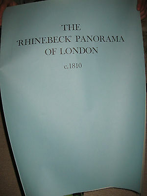 """The """"Rhinebeck"""" Panorama Of London C.1810 4 Large Colour Plates."""