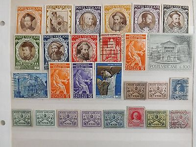 Vatican, used & mounted mint stamps