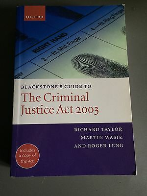 the criminal justice act 2003 blackstones guide