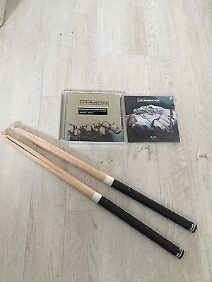 Original Love Amongst Ruin Drumsticks used 2015 Steve Hewitt Placebo SIGNED CD