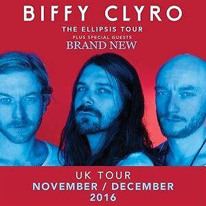 2 x BIFFY CLYRO Lower Tier Seated Tickets - London O2 Arena - Thurs 8th Dec 2016