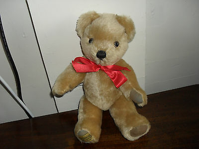 "Merrythought Ironbridge Shropshire- Jointed Traditional Teddy Bear 12"" Long"