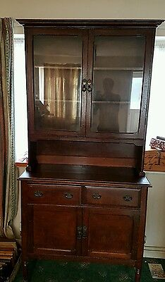 Tudor Bookcase Sideboard Cabinet Vintage Antique