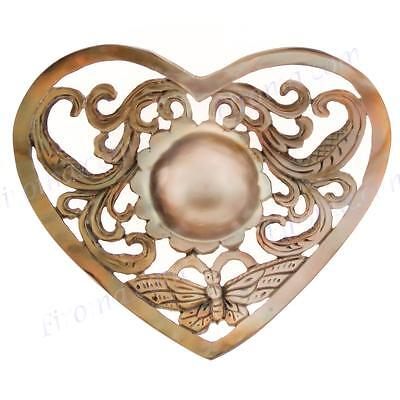 """2 3/16"""" MABE PEARL IN MOTHER OF PEARL SHELL CABOCHON pearl"""