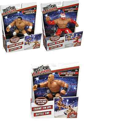 Wwe Official Wrestling Power Slammers Rare Kids Superstar Action Figure 3 Set