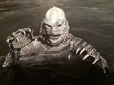 creature from the black lagoon Original Hand painted Canvas..