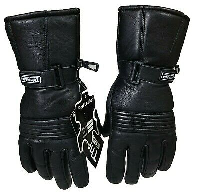 Winter Thermal 3M Motorcycle Motorbike Leather Padded Protection Gloves *SALE!!*