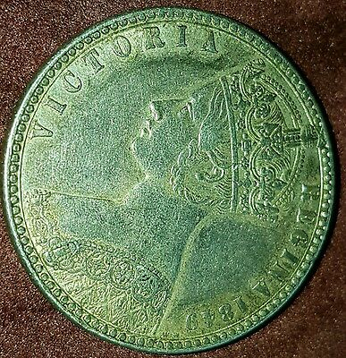 1849 Unc Victoria Florin Godless Type Coin Beautiful full lustre