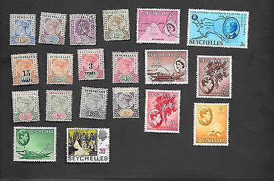 Seychelles - Collection Of 20 Very Old Stamps - Mostly Mint Hinged - Nice