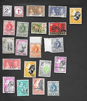 Swaziland - Collection Of 21 Very Old Stamps
