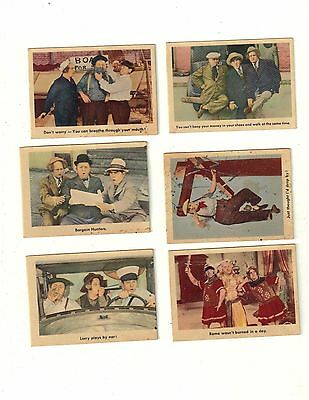 1959 three stooges lot of 12 cards