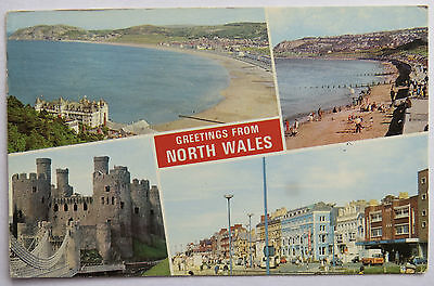 Postcard North Wales Multiview #2. Posted 1975