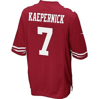 Nike Genuine NFL San Francisco 49ers Jersey No 7 Kaepernick Adults Large New