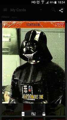 Topps Star Wars Card Trader Vintage The Ominous One Darth Vader SWCT