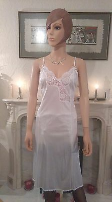 Vintage Retro St Michael silky Nylon Slip Dress Size 12 UK Full slip Nightie