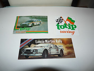 Lancia 037 Martini Rally Lancia 037 Totip Racing Adesivo Sticker Rallye
