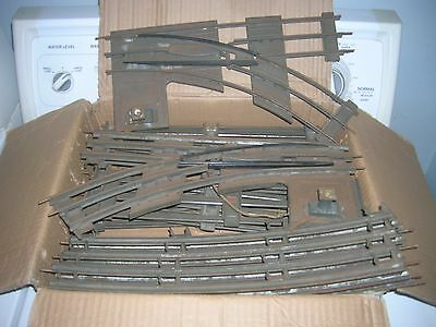 IVES Standard Gauge Switches and 14 pieces Track