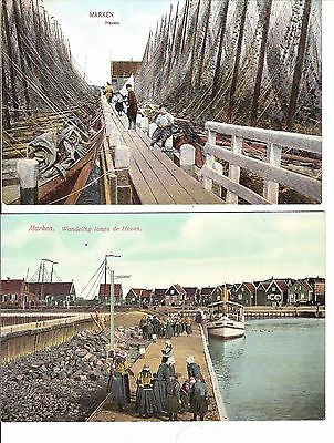 Marken Holland 2 early postcards