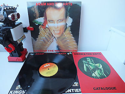 Adam And The Ants Kings of The Wild Frontier LP W/ Catalogue Vinyl LP Record