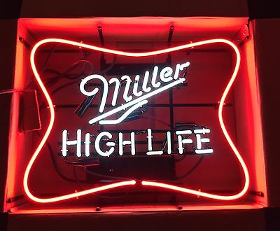 """Miller High Life MHL Soft Cross Neon Sign 25x19"""" - Brand New In Box"""