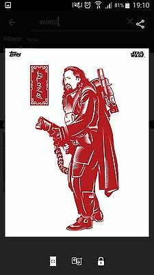 Topps Star Wars Card Trader Red Woodcut BLAZE Rogue One SWCT