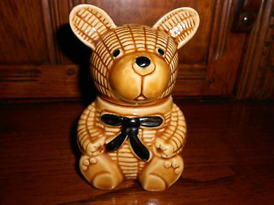 Cute Vintage Bear Honey Pot