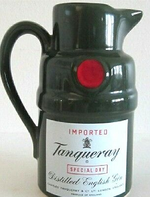 "Mint Cond Tanqueray Special Dry Gin Pitcher- 7"" Tall Free Shipping!!!!!!!!!"
