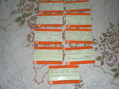 Railways Trains 9 British Rail Tickets from 2000's  Mainly South East Areas