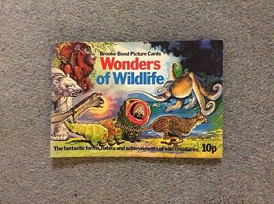 Brooke Bond complete picture card album,Wonders of Wildlife with 50 cards, VGC
