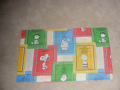 Vintage  Peanuts Snoopy Charlie Brown & Gang Pillow Case Schultz