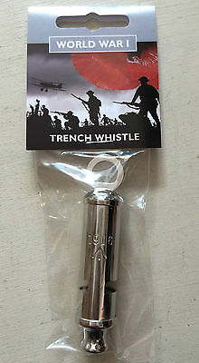 Repro 1916 Metal Trench Whistle WW1 WWI The Somme British Empire Army Trenches