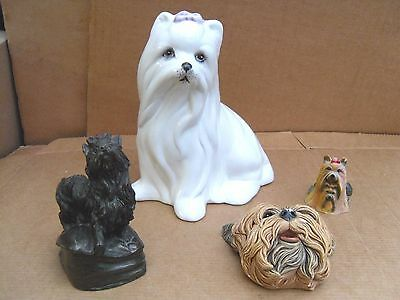 4 Dogs - Heavy Bronze Effect - China - Resin - Decorative