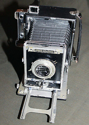 Vintage Speed Graphic Camera with Leather Case