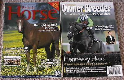 British Horse mag 2006 and Thoroughbred mag  2010