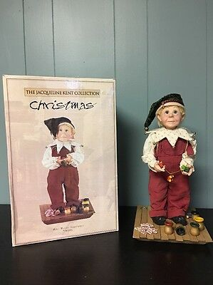 """JACQUELINE KENT Collection Christmas Miter Master Apprentice Collectible 14"""""""