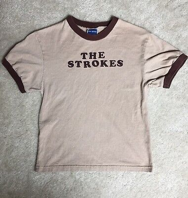 The Strokes RARE Blue Grape T-Shirt Brown Ringer S / Youth L Flock Vintage