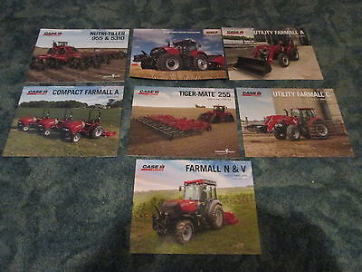 Lot Of 7 Case IH Tractor Dealer Brochures Farmall A Farmall C Tillage Optum