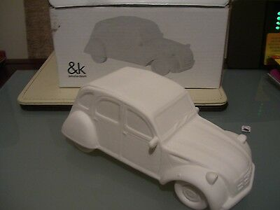 Paint Your Own Porcelain Deux-Cheveaux 2Cv