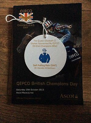 Ascot Champions Meeting Soft Falling Rain Owners Badge And Race Card