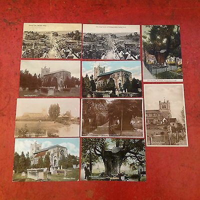Waltham Abbey Essex Vintage Postcard Collection Rp Street Scenes Ect