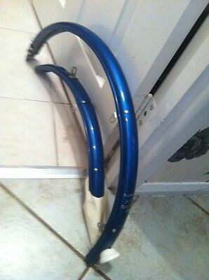 New Old Stock Vintage Bluemels All Rounder Nice Metalic Blue Mudguards,
