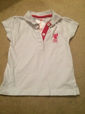 Girls Liverpool Fc 18-23 Months White Polo Shirt