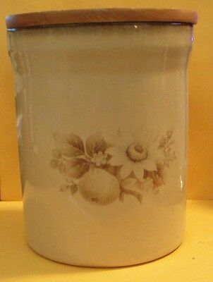 """Denby Stoneware Memories 6"""" Cannister With Sealed Lid"""