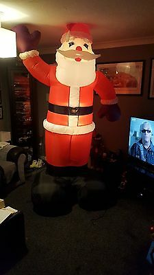 large light up inflatable airblown santa 8 1/2 9ft tall