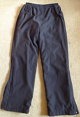 Ladies Ping Collection Navy Blue Lined Golf Over Trousers Size 12 31L