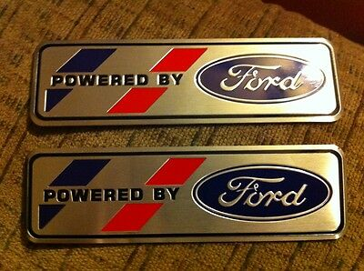 Sunbeam Tiger Alpin Cobra Ford Ac Powered By Ford Emblems Plaques New Pair Typeb