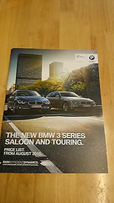 2015 BMW 3-Series Saloon & Touring Price List Brochure