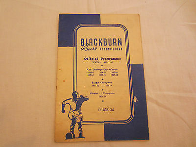 1950-51 DIV 2  BLACKBURN ROVERS v LEEDS UNITED  (  PLAYED 10TH FEBRUARY  )