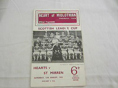 1960-61 SCOTTISH LEAGUE CUP  HEARTOF MIDLOTHIAN v ST MIRREN